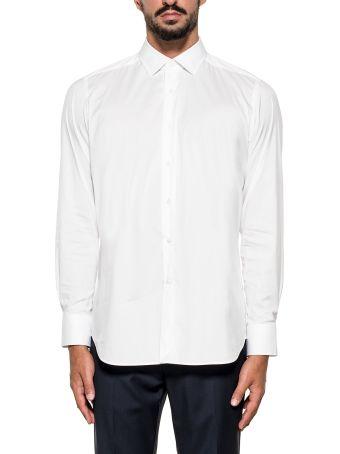 Bagutta White  Cotton Blen Shirt