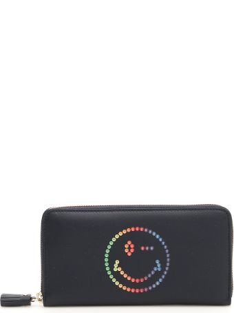 Anya Hindmarch Zip-around Wallet With Multicolor Smiley