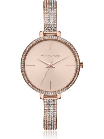 Michael Kors Jaryn Pavé Rose Gold Tone Women's Watch