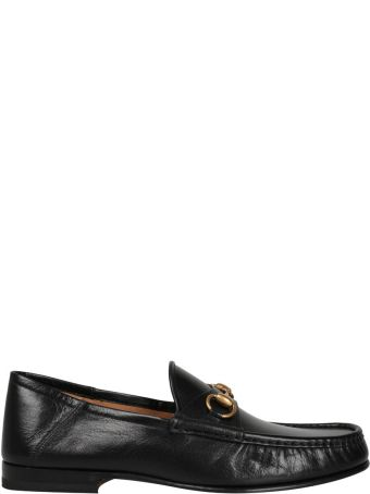 Gucci Black Leather Easy Roos Loafer