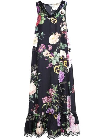 Parosh Parosh Long Floral Dress