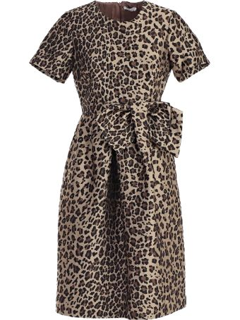 P.a.r.o.s.h. Duchesse Animal Print Dress
