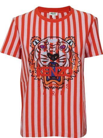 Kenzo Printed Striped T-shirt