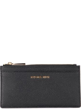Michael Kors Lg Slim Black Saffiano Leather Cardholder