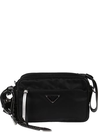 Prada Logo Triangle Patch Shoulder Bag