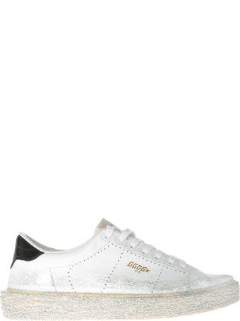 Golden Goose Glitter Brushed Superstar Sneakers
