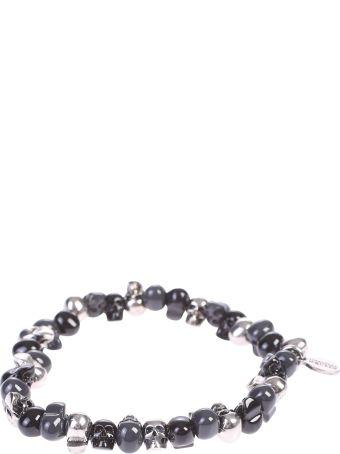 Alexander McQueen Black Skulls Bracelet