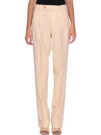 Gucci Beige Wool Trousers
