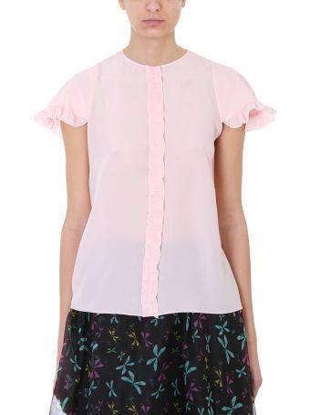 Rochas Mara Pink Silk Blouse