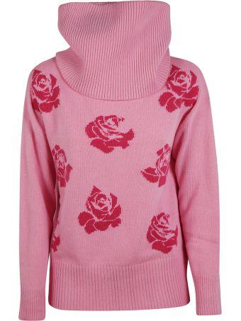 Blugirl Floral Roll Neck Sweater