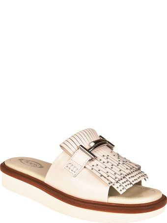 Tod's Double T Fringed Sliders