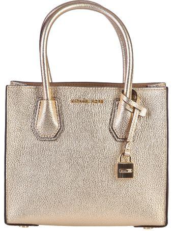Mercer Metallic Leather Shoulder Bag
