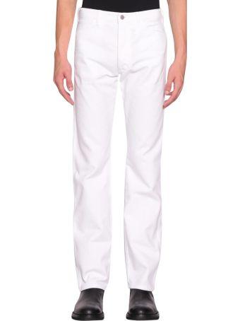 A plan application White Cotton Denim Jeans
