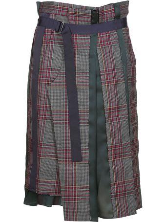 Sacai Checked Skirt