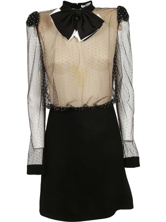 Givenchy Bow Pearl Embellished Dress