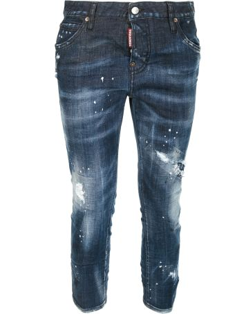 Dsquared2 Distressed Detail Cropped Jeans