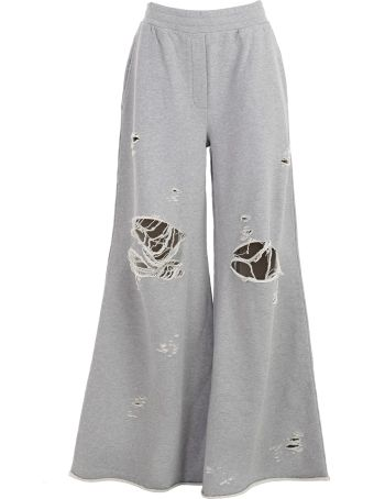 T By Alexander Wang Distressed Track Pants
