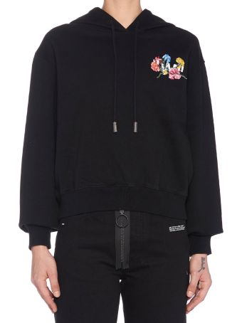 Off-White 'flowers Cropped' Hoodie