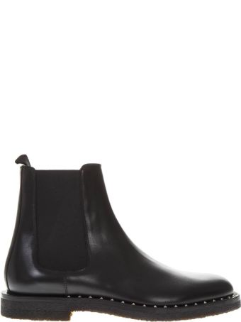 Valentino Garavani Black Leather Ankle Boots