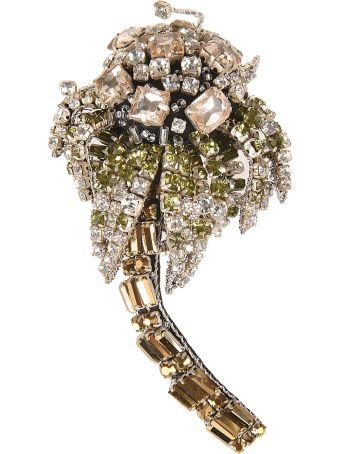 N.21 Embellished Brooch