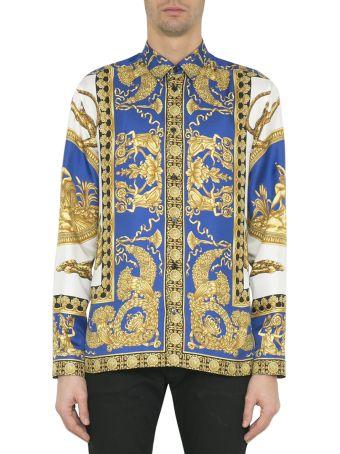 Versace Baroque Print Silk Shirt