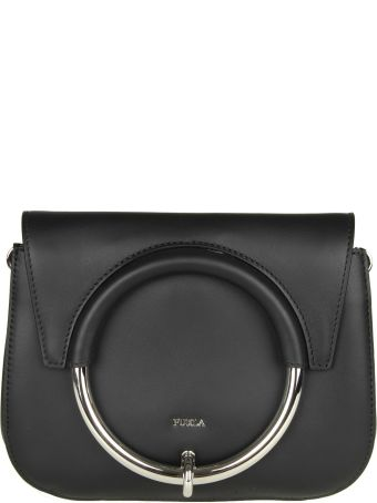 "Furla ""margherita Mini"" Shoulder In Black Color Leather"