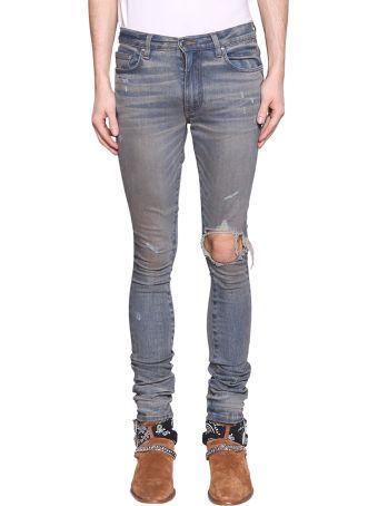 AMIRI Broken Cotton Denim Jeans