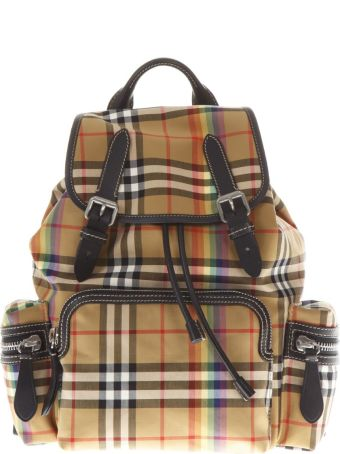 Burberry Multicolor Checked Backpack