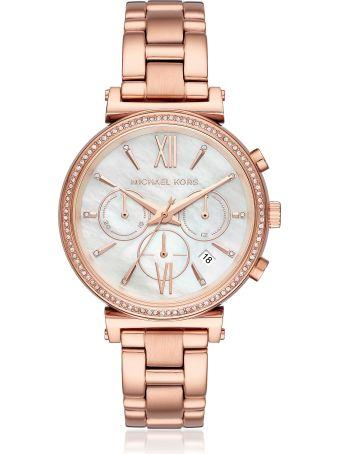 Michael Kors Sofie Pavé Rose Gold Tone Women's Watch