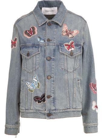 Valentino Butterfly Patch Denim Jacket