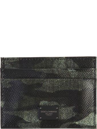 Dolce & Gabbana Camouflage Pattern Leather Card Holder