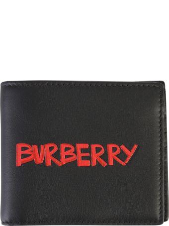 Burberry Black Branded Wallet