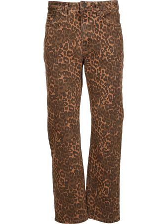 Alexander Wang Leopard Print Cropped Jeans