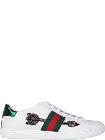 Gucci Ace Leather Embroidered Sneakers