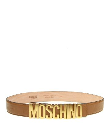 Moschino Leather Belt Color Leather With Logo