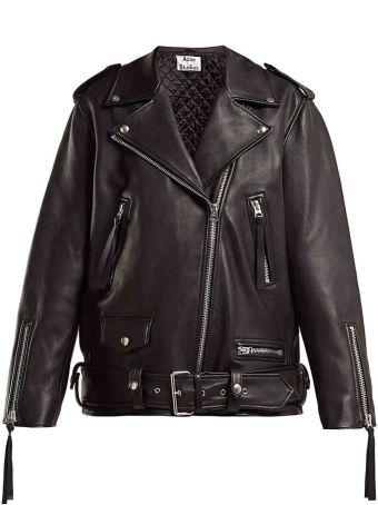 Acne Studios Oversized Leather Biker Jacket