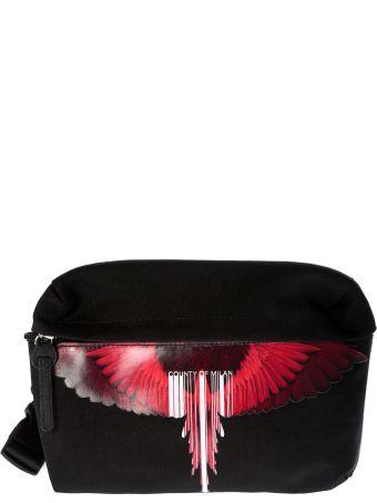 Marcelo Burlon Wings & Barcode Logo Shoulder Bag