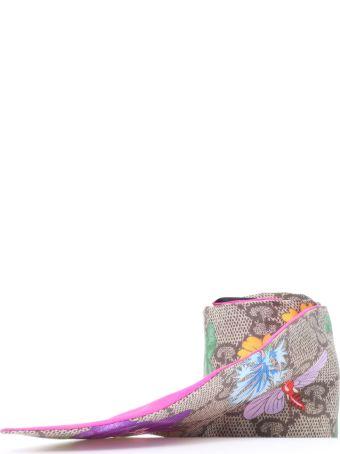 Gucci Gg Silk Neck Bow Flora Print
