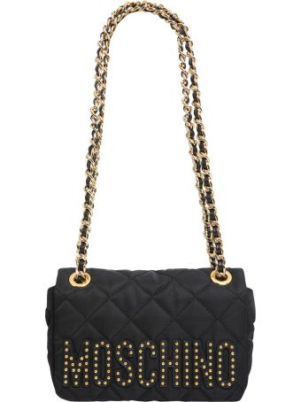 Moschino Shoudler Bag With Studded Logo