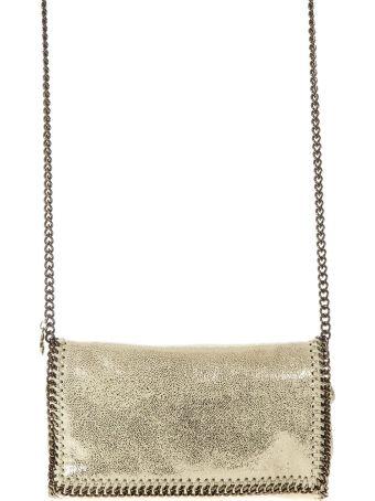 Stella McCartney Falabella Gold Shoulder Bag With Chain