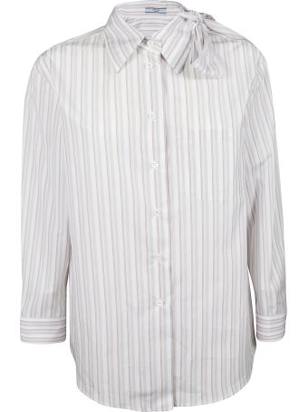 Prada Striped Oversized Shirt