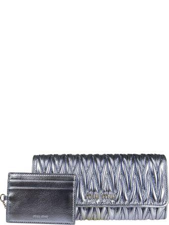 Miu Miu Quilted Continental Wallet