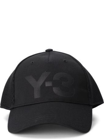 Y-3 Trucker Black Twill And Mesh Cap