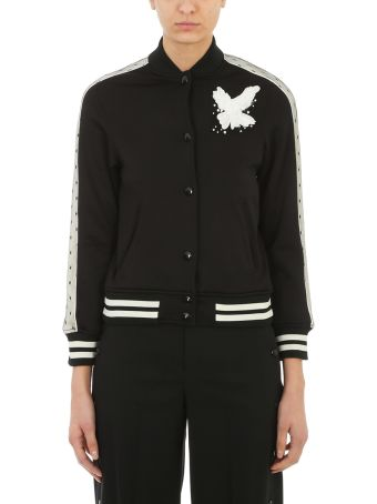 RED Valentino Bird Detail Bomber Jacket