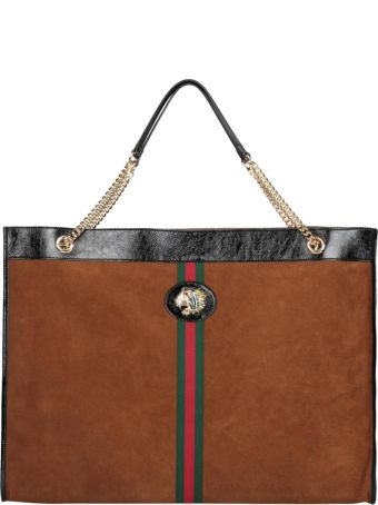 Gucci Suede Shopping Bag
