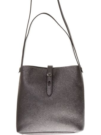 Hogan Grey Color Leather Bucket Bag