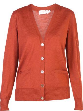 Tory Burch Orange Madeline Cardigan