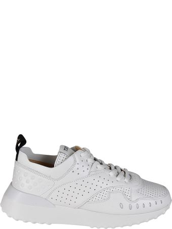 Tod's White Drilled Leather Sneakers
