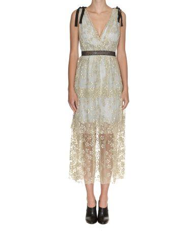 Self-portrait Tiered Midi Dress