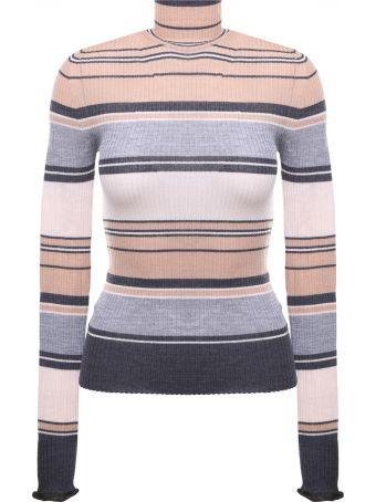 Acne Studios Ribbed Striped Merino Wool Turtleneck Sweater